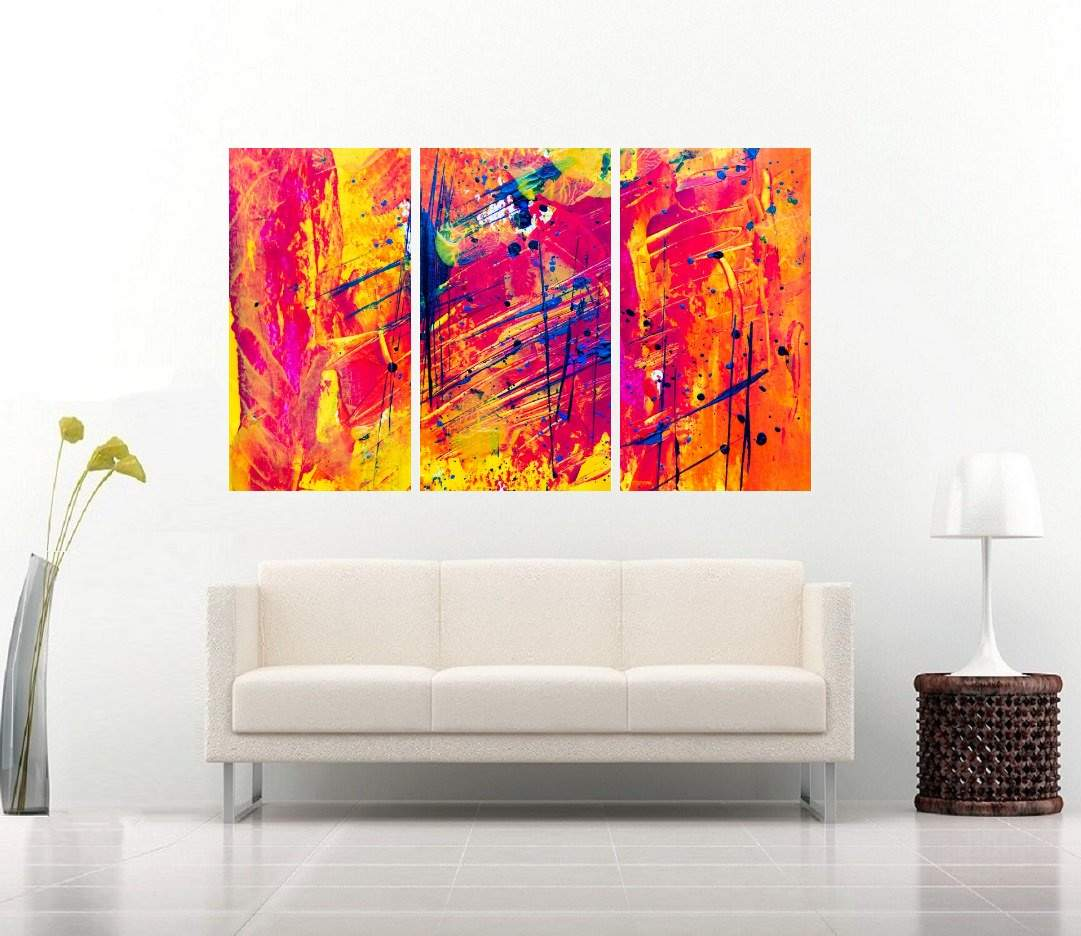 Quadro Arte Abstrata Impressão em Canvas Fine Art Cod 7066
