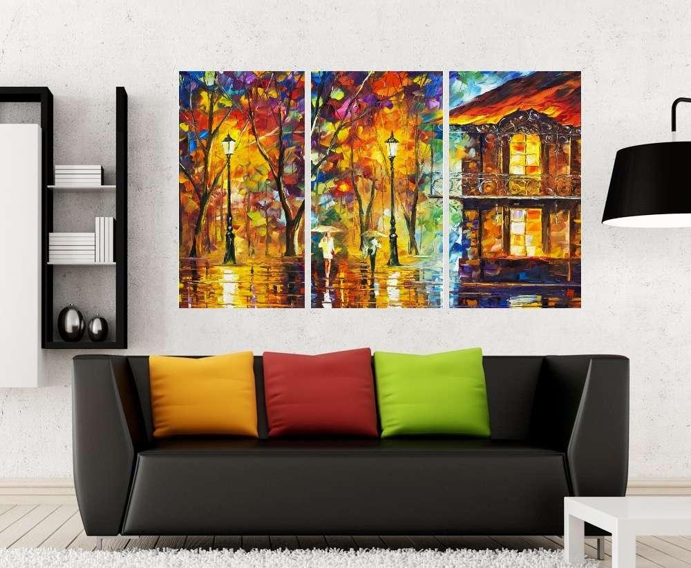 Quadro Colorido Paisagem Colorido Impressão em Canvas Fine Art Cod 7031