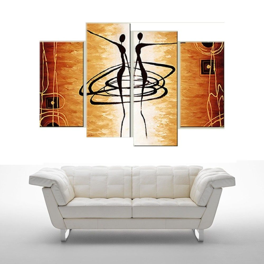 Quadro Decorativo Abstrato Africano Cod 1719