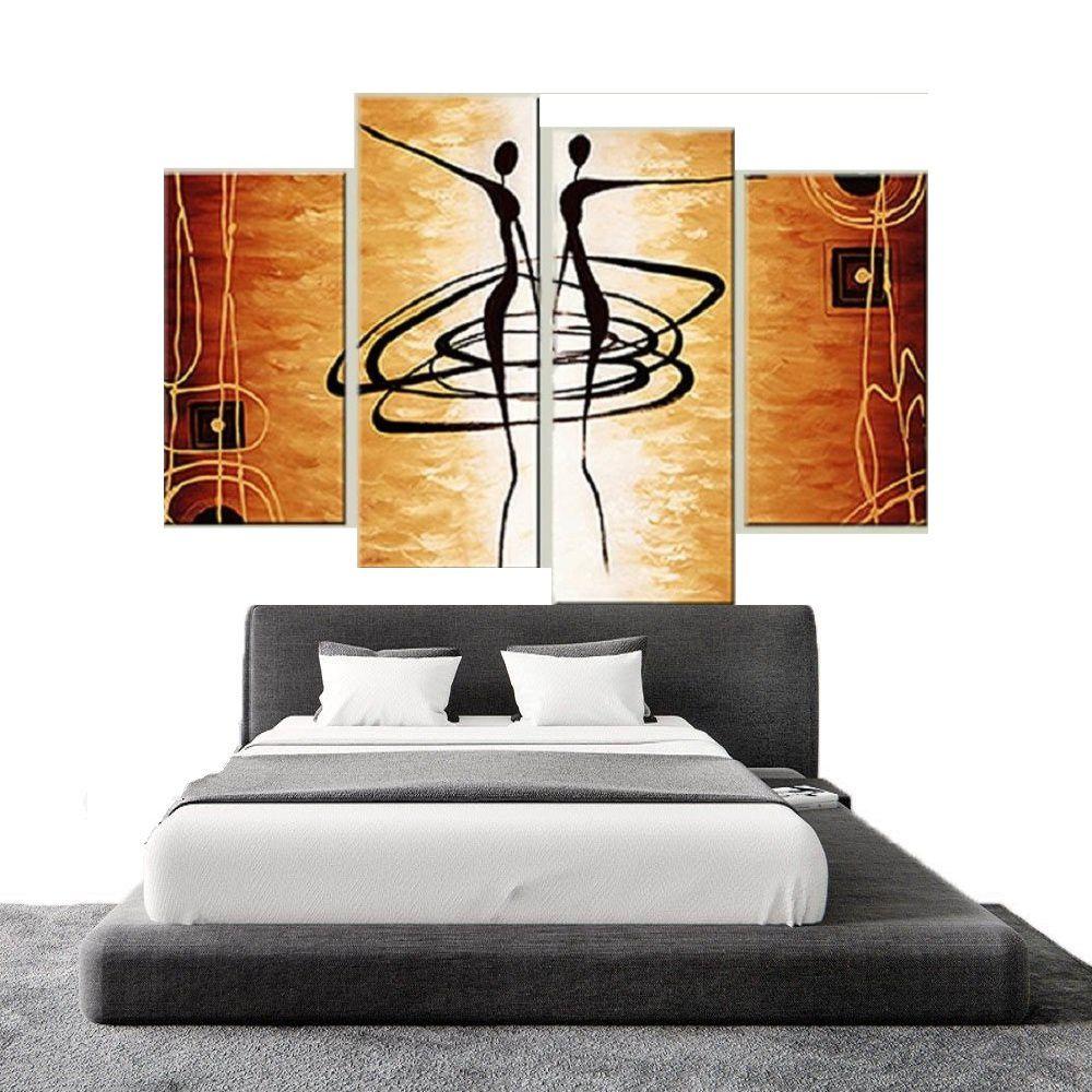 Quadro Decorativo Abstrato Africano Cod 1719