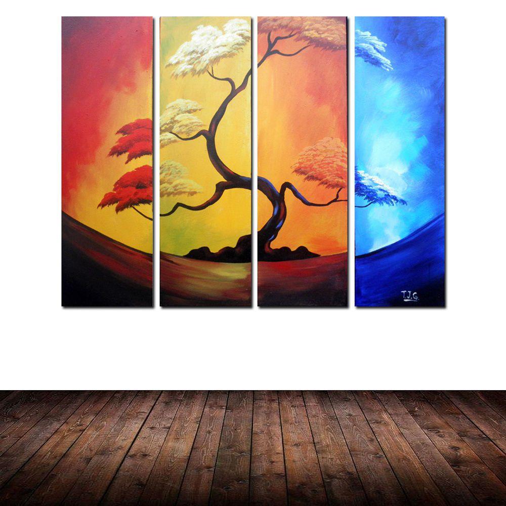 Quadro Decorativo Abstrato Arvores Moderno Cod 188