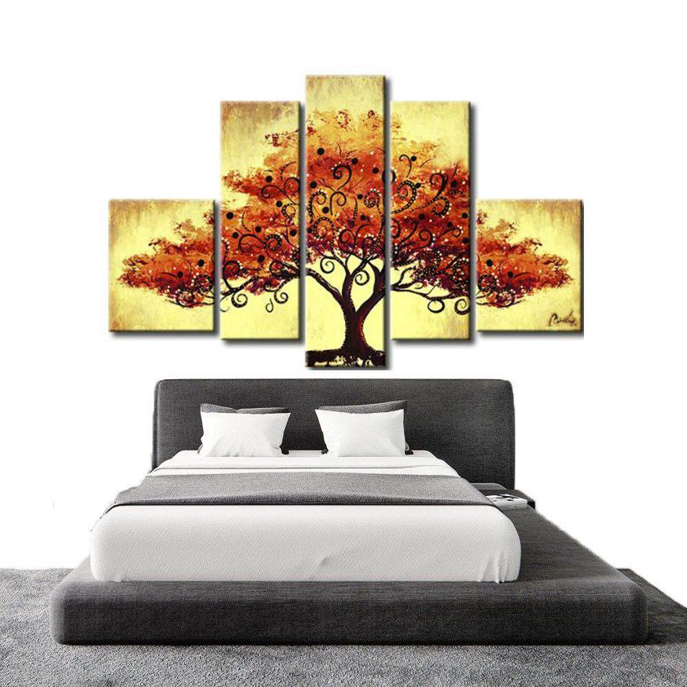 Quadro Decorativo Abstrato Arvores Moderno Cod 310