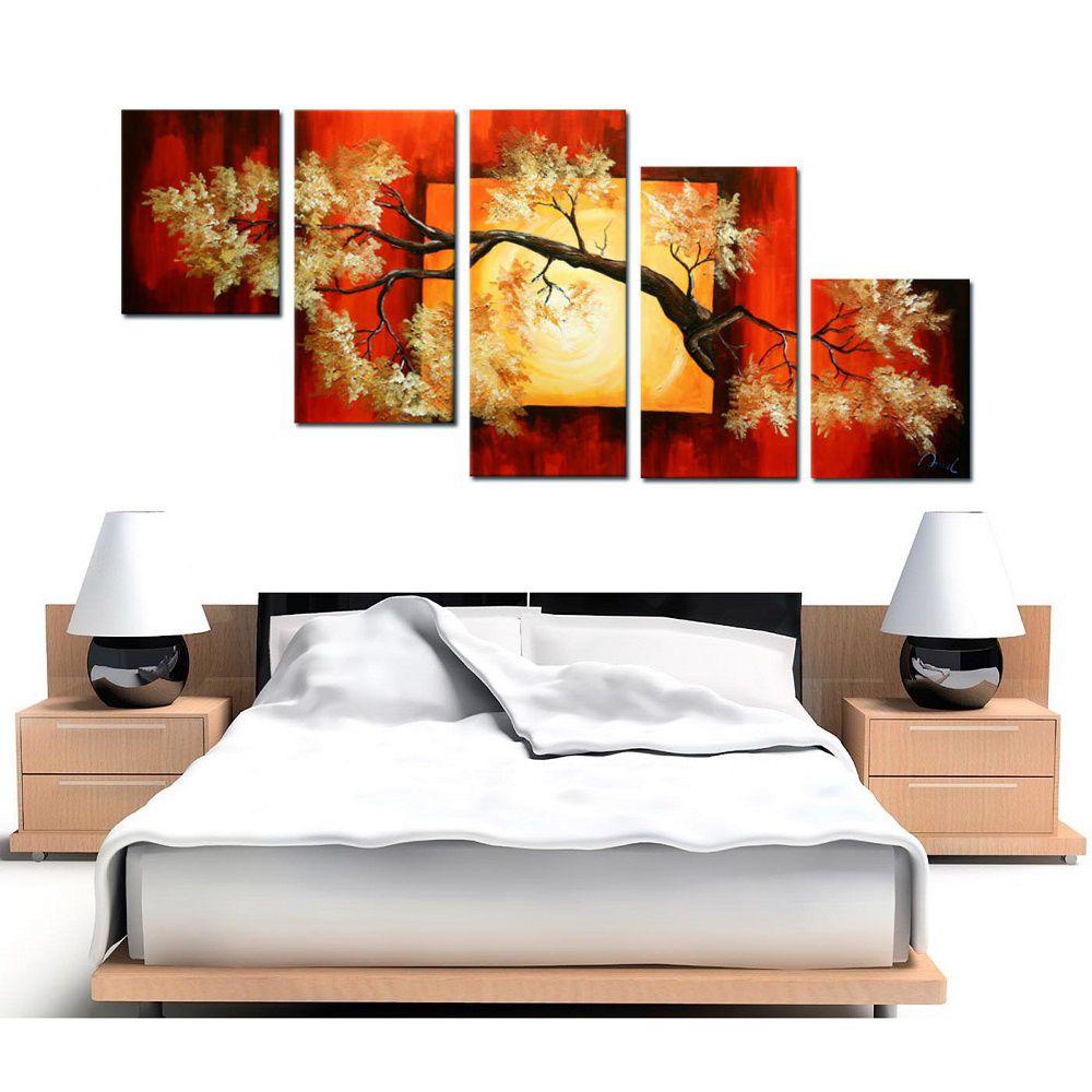 Quadro Decorativo Abstrato Arvores Moderno Cod 38