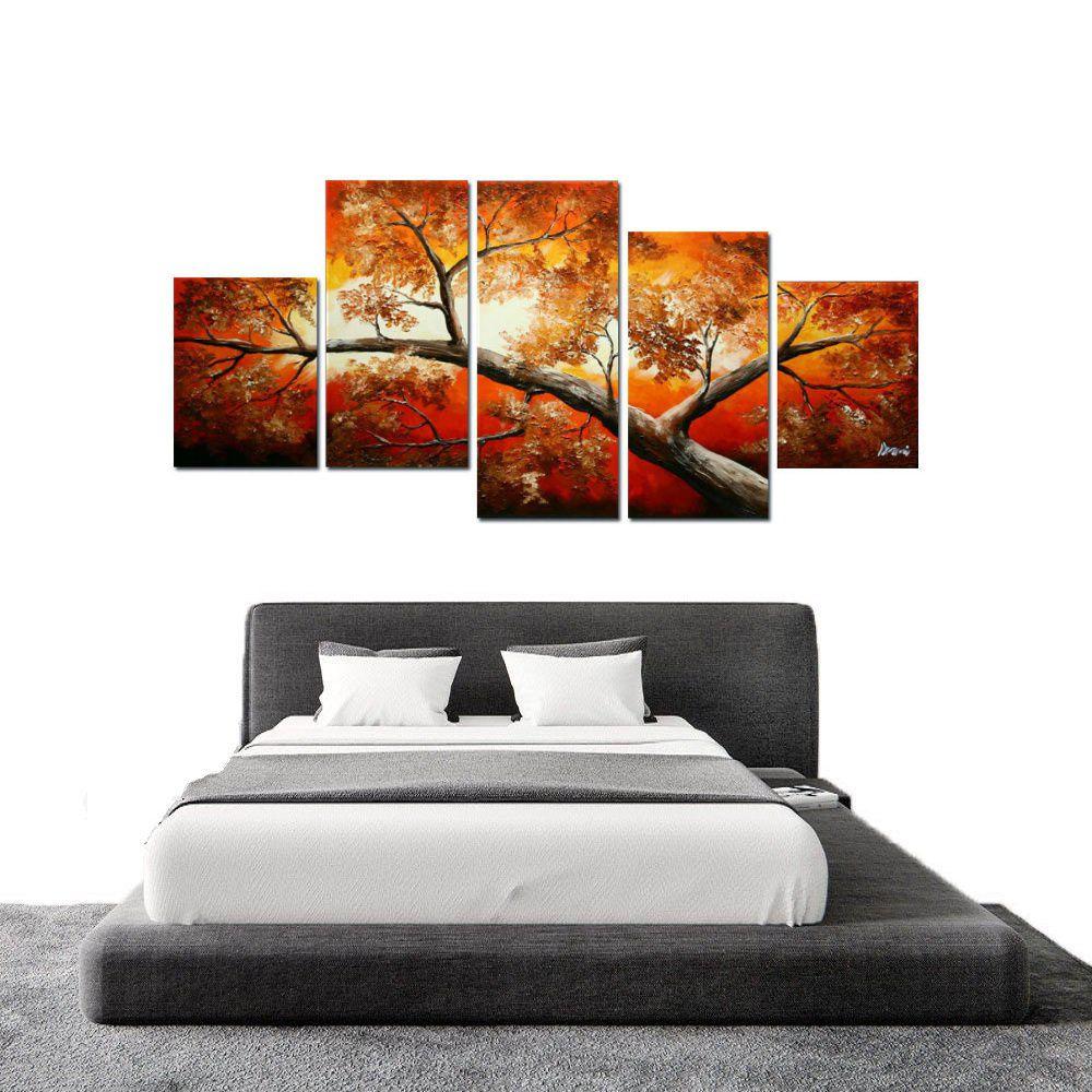 Quadro Decorativo Abstrato Arvores Moderno Cod 44