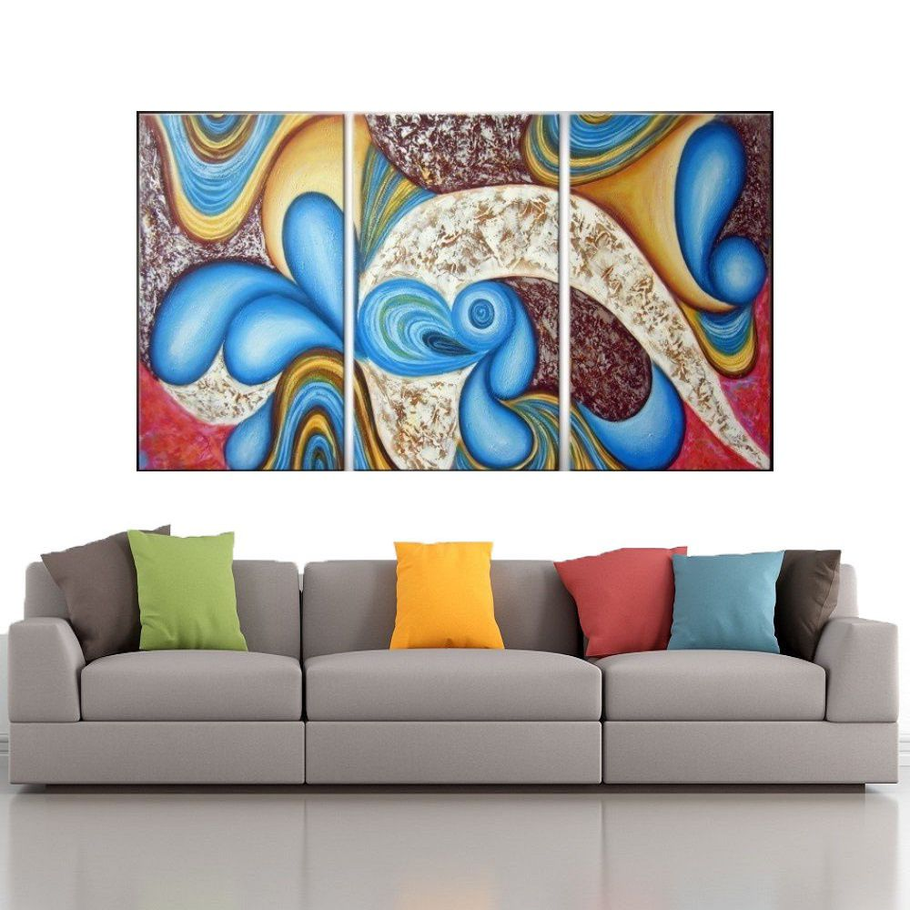 Quadro Decorativo Abstrato Cod 1707