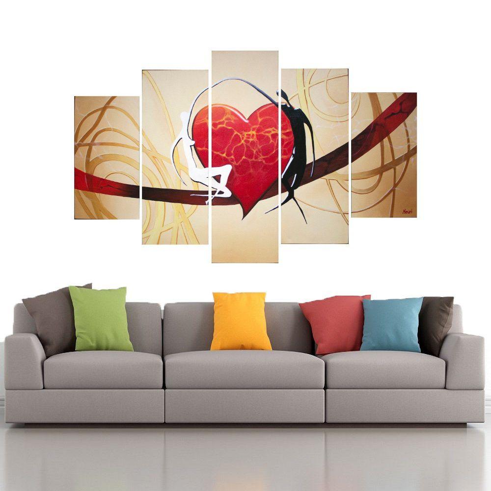 Quadro Decorativo Abstrato - Coração -  Cod 1705