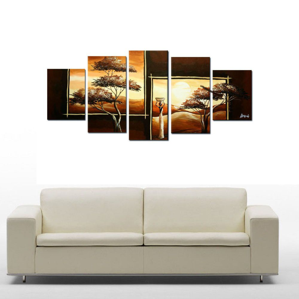 Quadro Decorativo Africano Arvores Moderno Cod 40