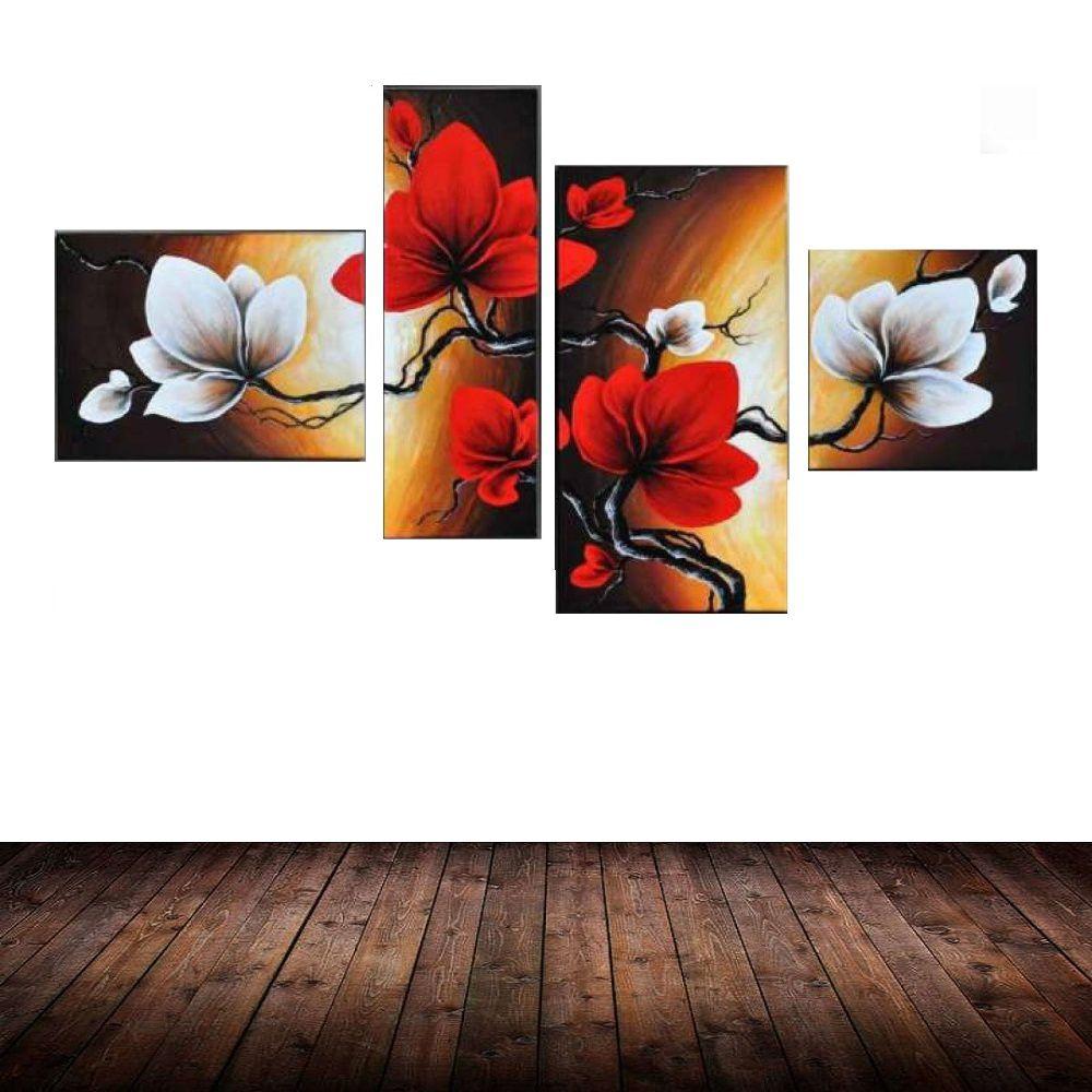 Quadro Decorativo Flores Florais Moderno Cod 1712