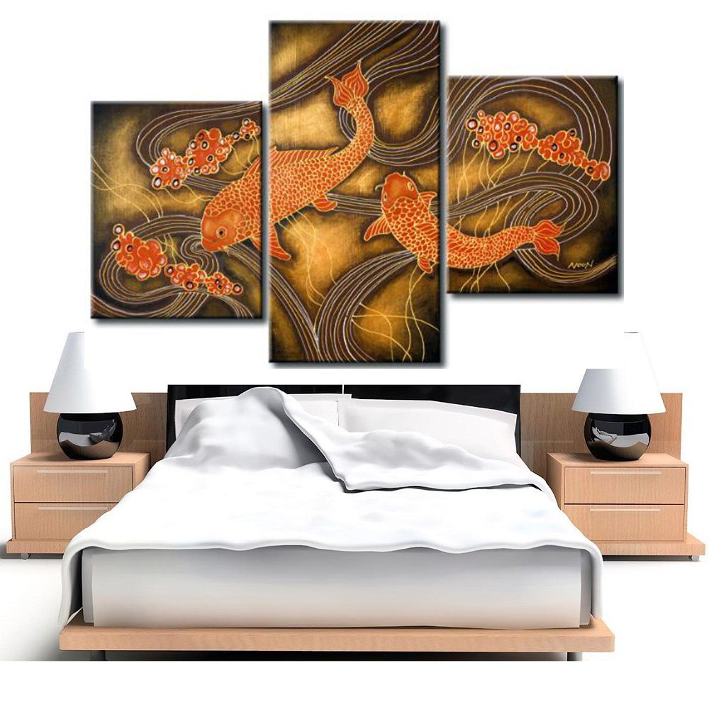 Quadro Decorativo Moderno Animais Carpas Cod 323