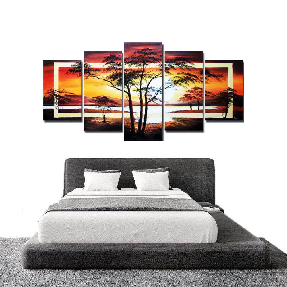 Quadro Decorativo Paisagem Impressionista Arvores Moderno Cod 950