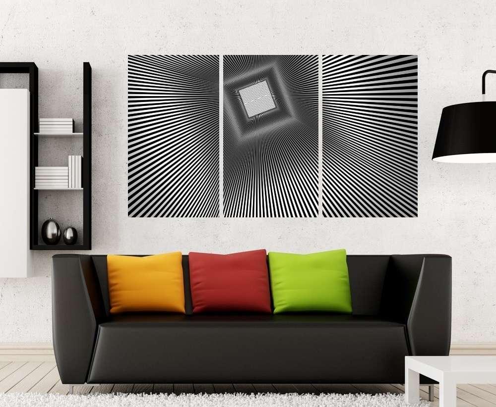 Quadro Formas e Linhas Impressão em Canvas Fine Art Cod 7039