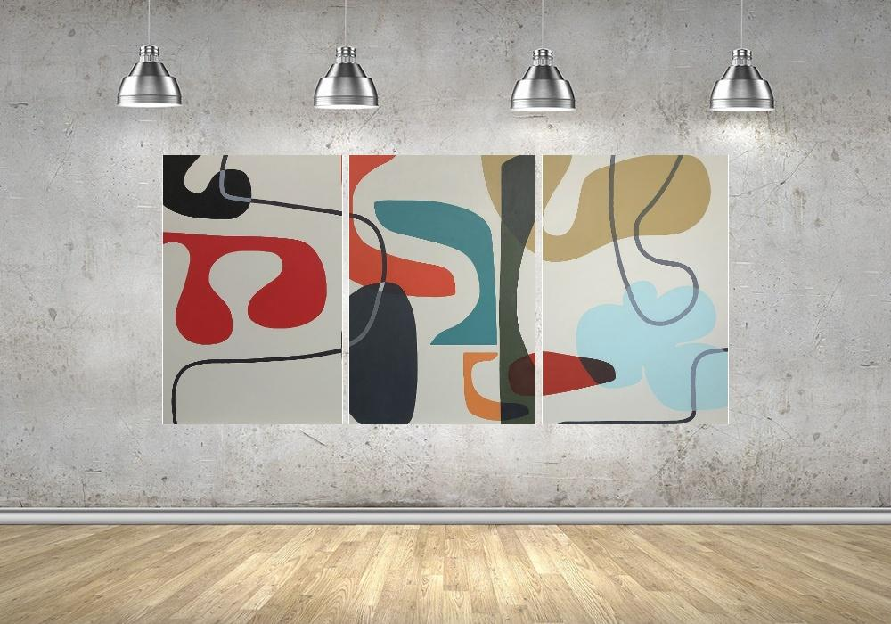 Quadro Formas Geometricas Impressão em Canvas Fine Art Cod 7034