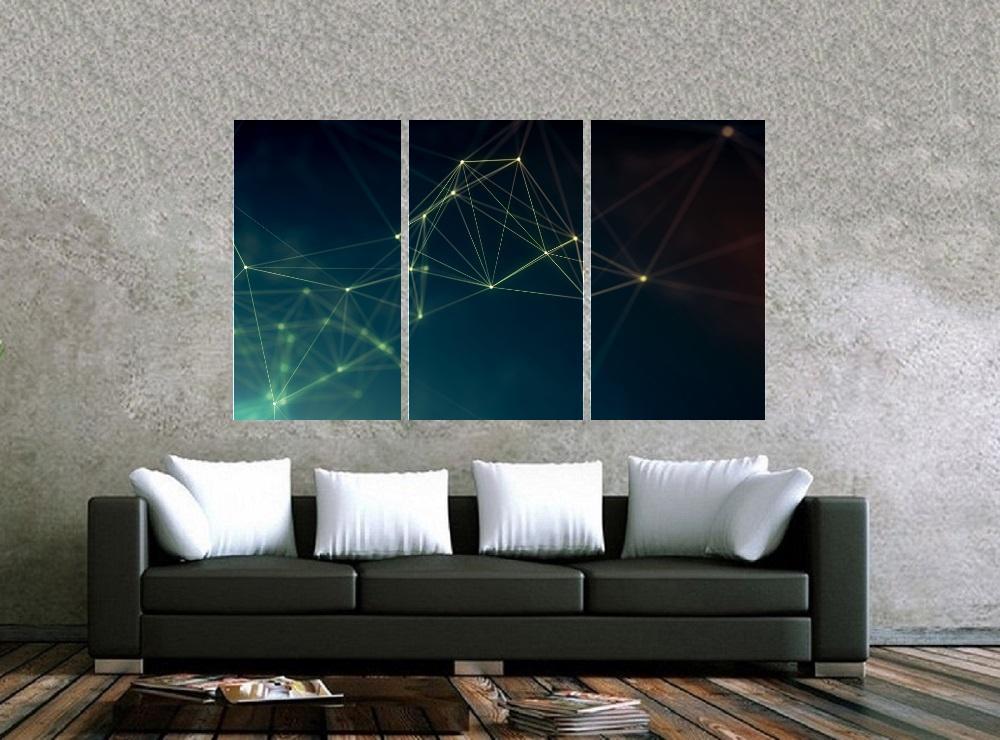 Quadro Formas Geometricas Impressão em Canvas Fine Art Cod 7045