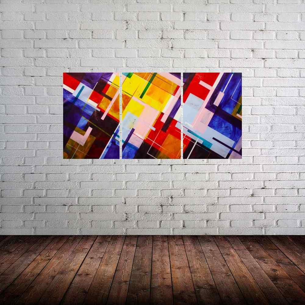 Quadro Geometrico Impressão em Canvas Fine Art Cod 7069