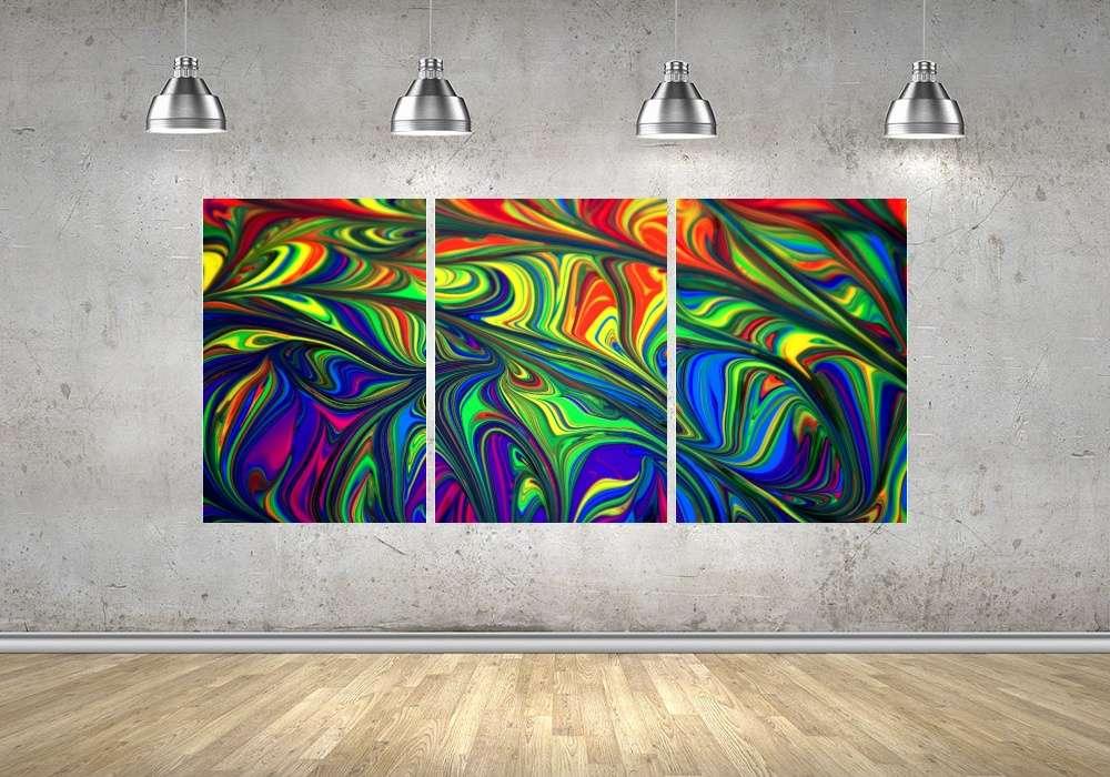 Quadro Mandalas Impressão em Canvas Fine Art Cod 7068