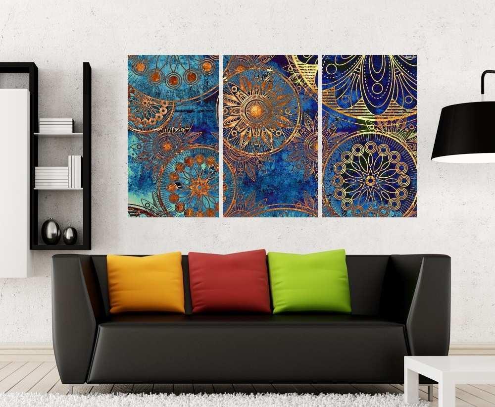 Quadro Mandalas Impressão em Canvas Fine Art Cod 7071