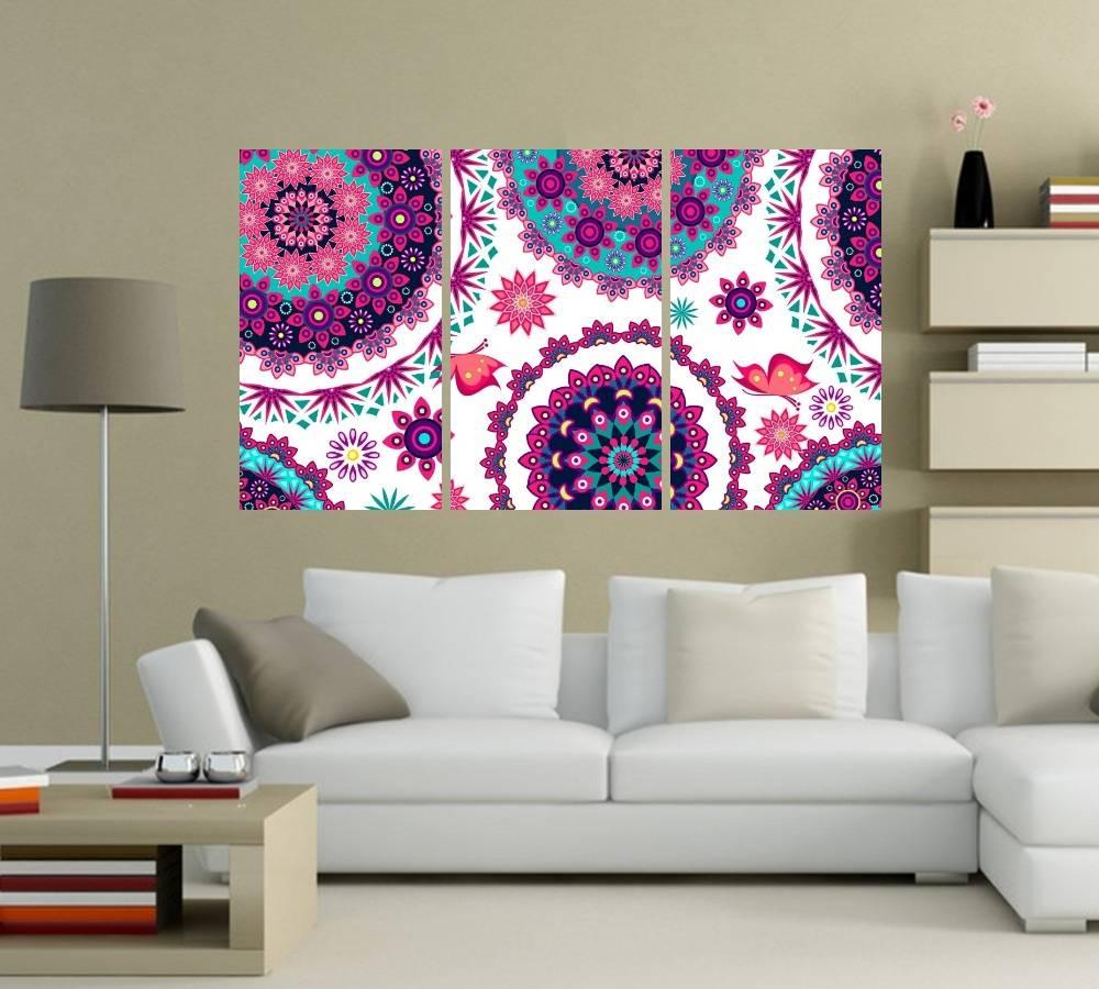 Quadro Mandalas Impressão em Canvas Fine Art Cod 7072