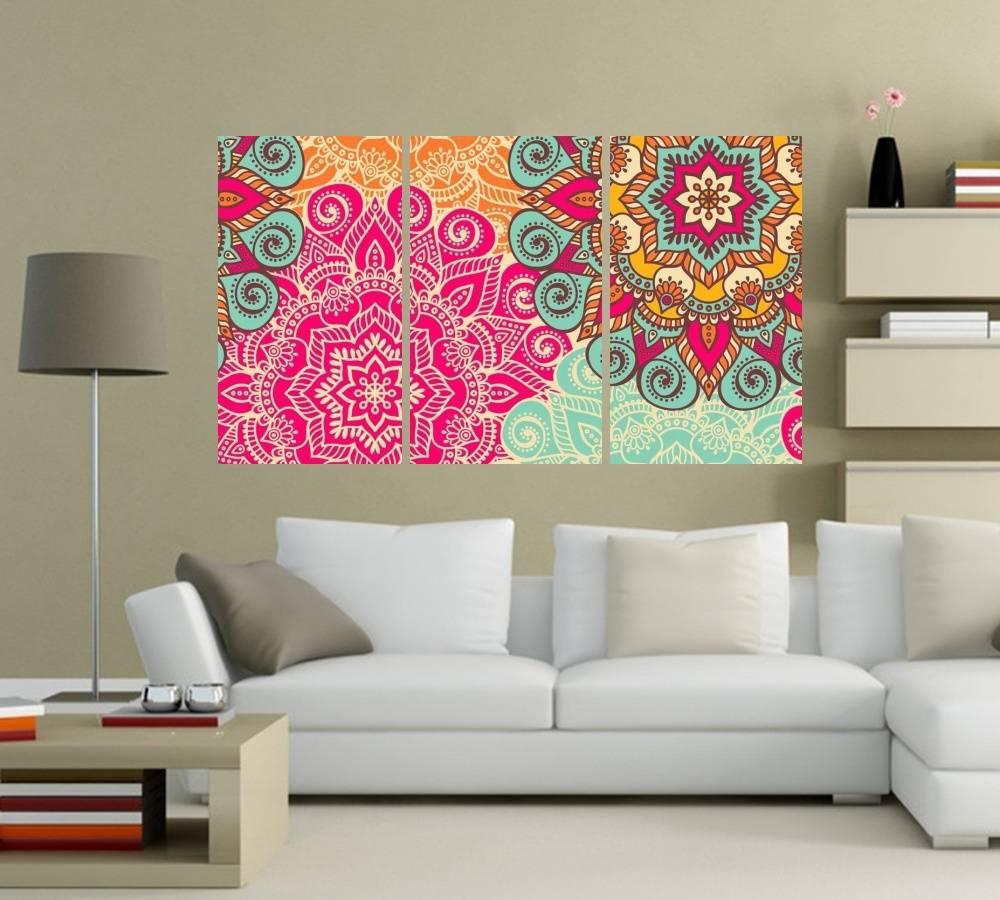 Quadro Mandalas Impressão em Canvas Fine Art Cod 7073