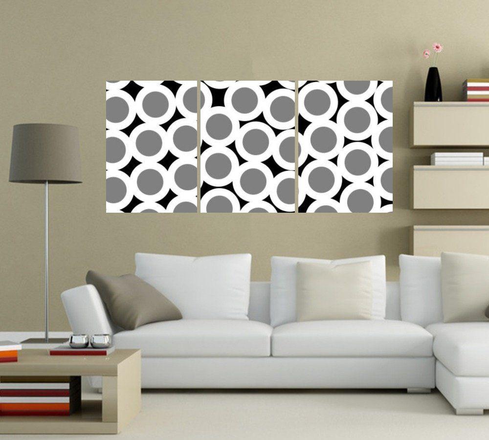 Quadro Minimalista Circulos Impressão em Canvas Fine Art Cod 7041