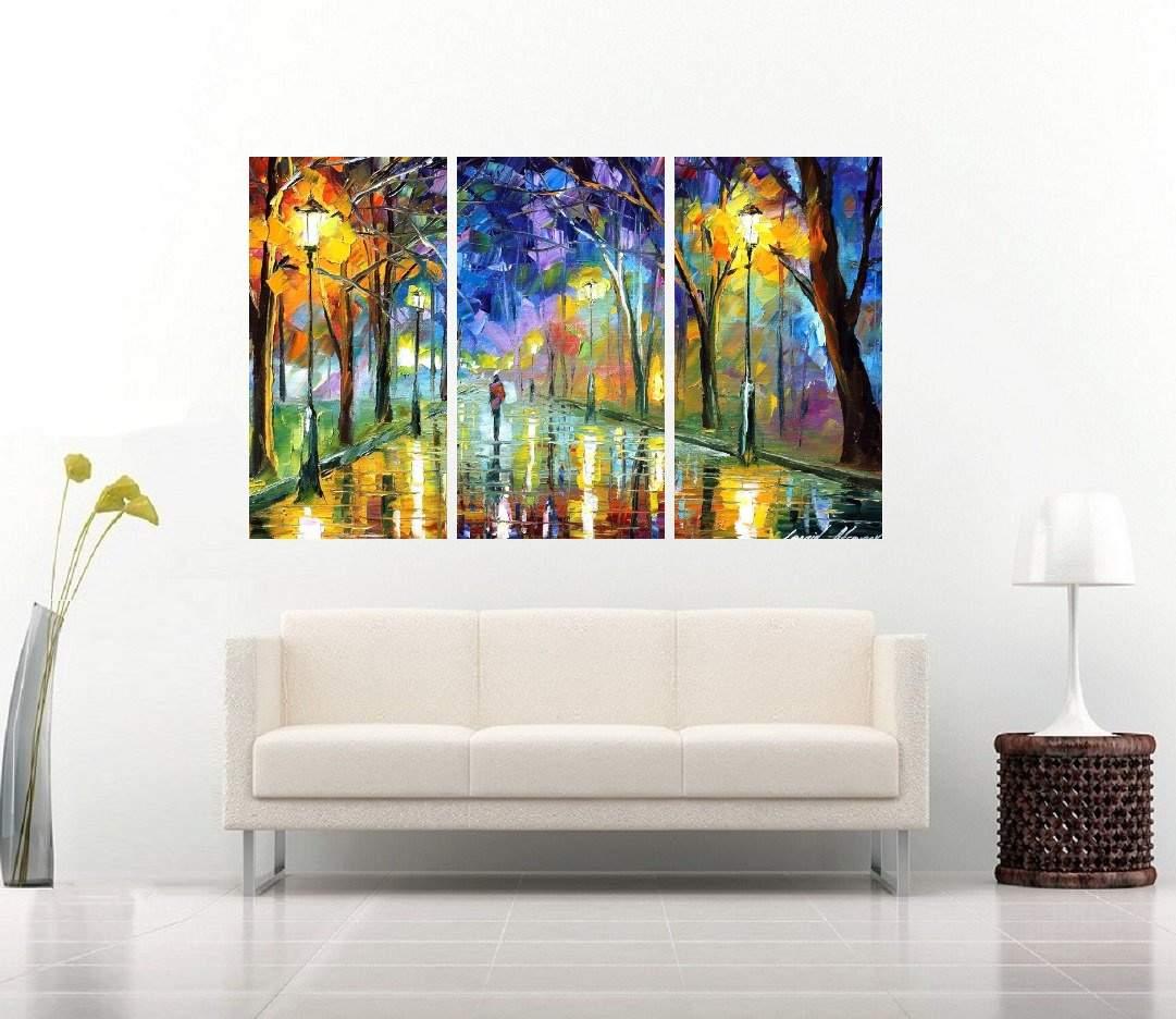 Quadro Paisagem Chuva Colorido Impressão em Canvas Fine Art Cod 7030