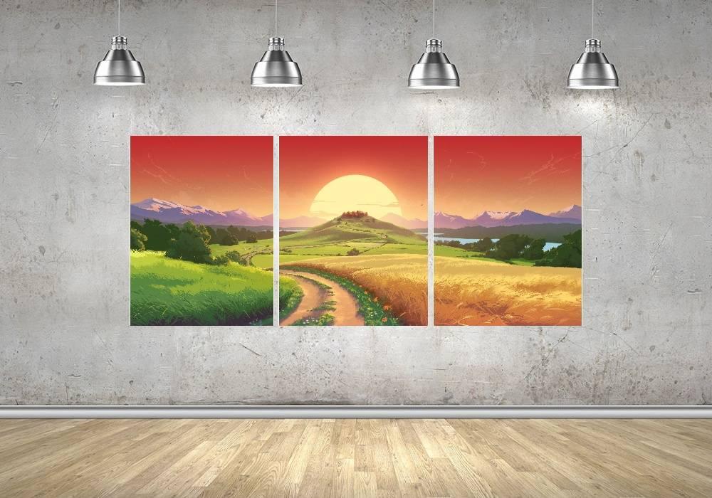 Quadro Paisagem Impressão em Canvas Fine Art Cod 7050