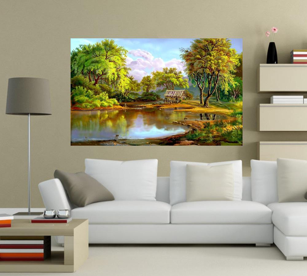 Quadro Pintura Paisagem Óleo Sobre Tela Cod 3007