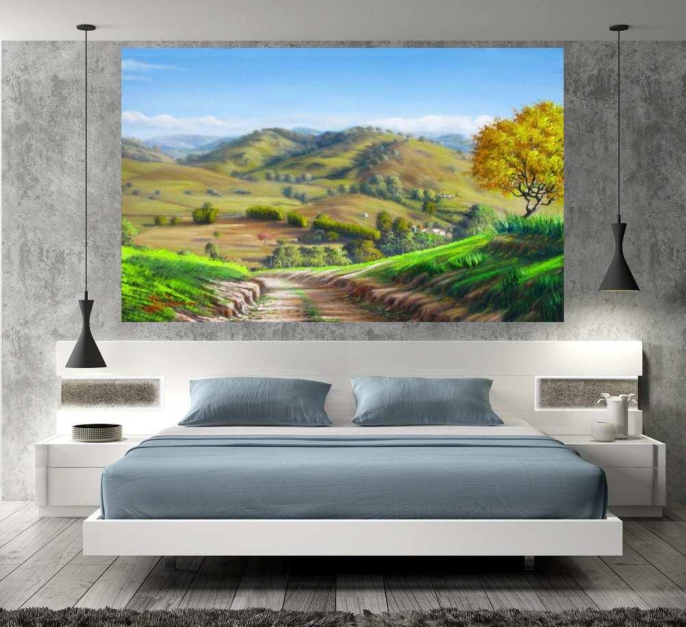 Quadro Pintura Paisagem Óleo Sobre Tela Cod 3010