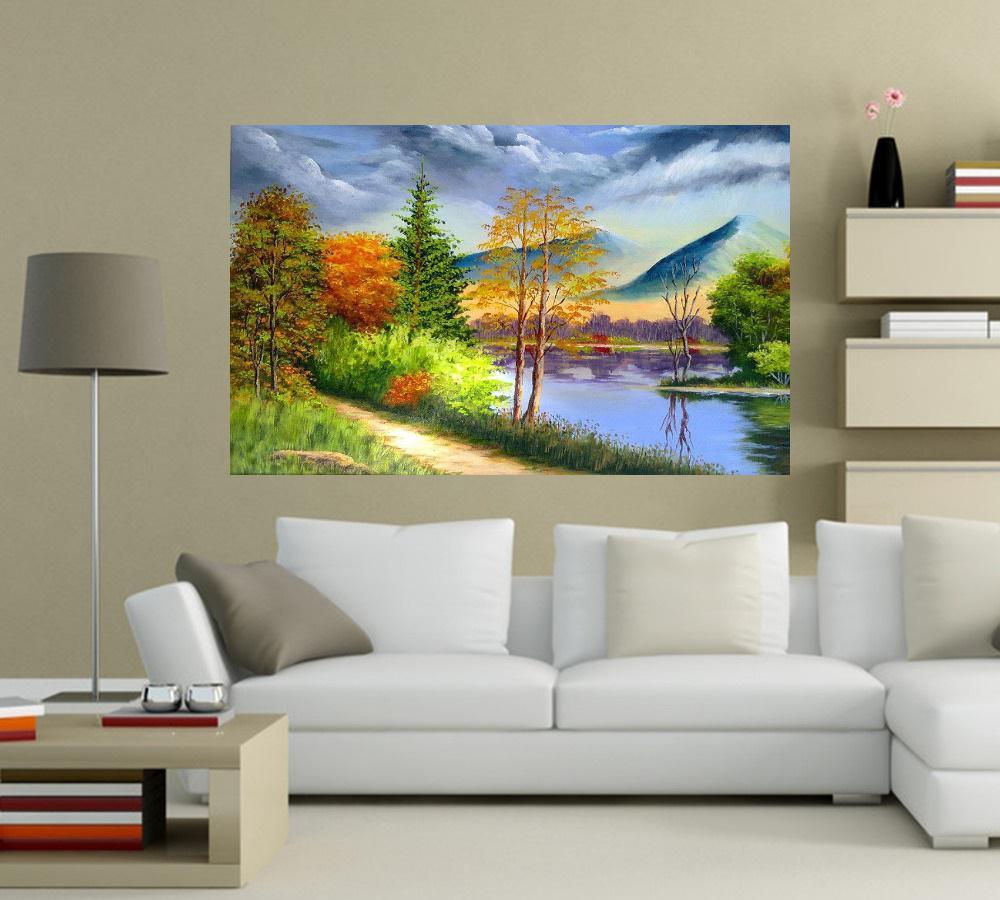 Quadro Pintura Paisagem Óleo Sobre Tela Cod 3015