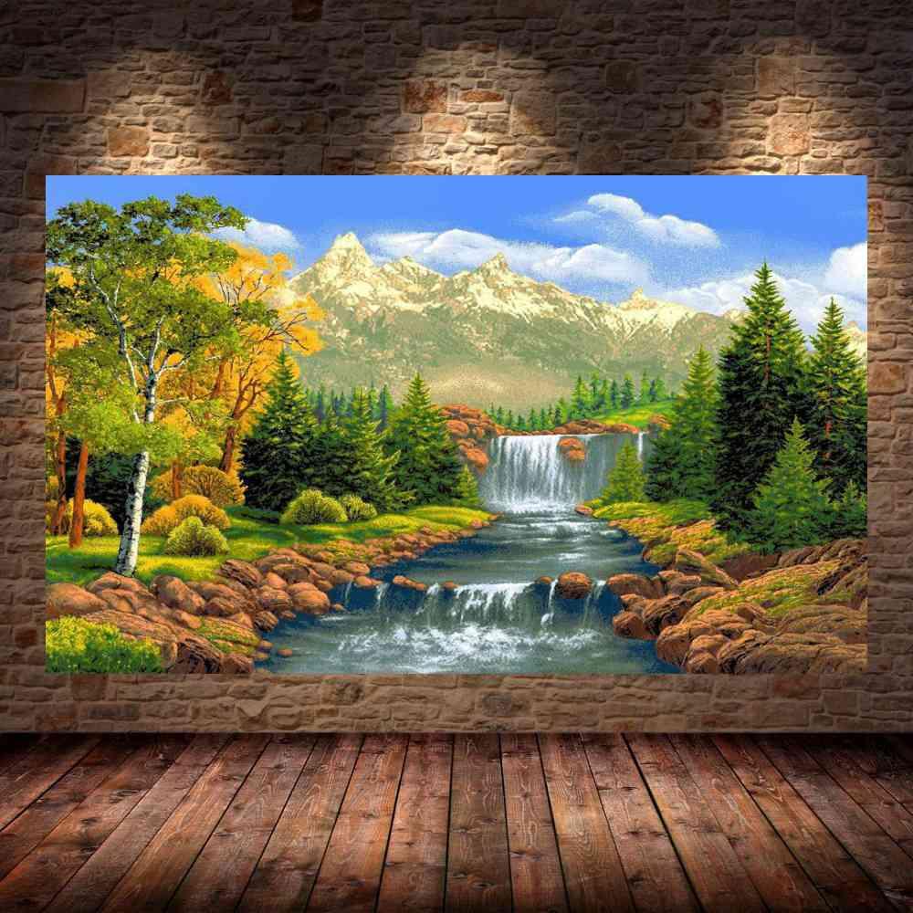 Quadro Pintura Paisagem Óleo Sobre Tela Cod 3017