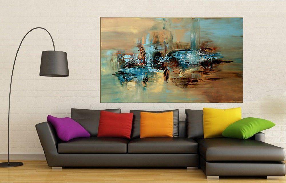 Quadro Pintura Tela Abstrato Moderno Cod 2009