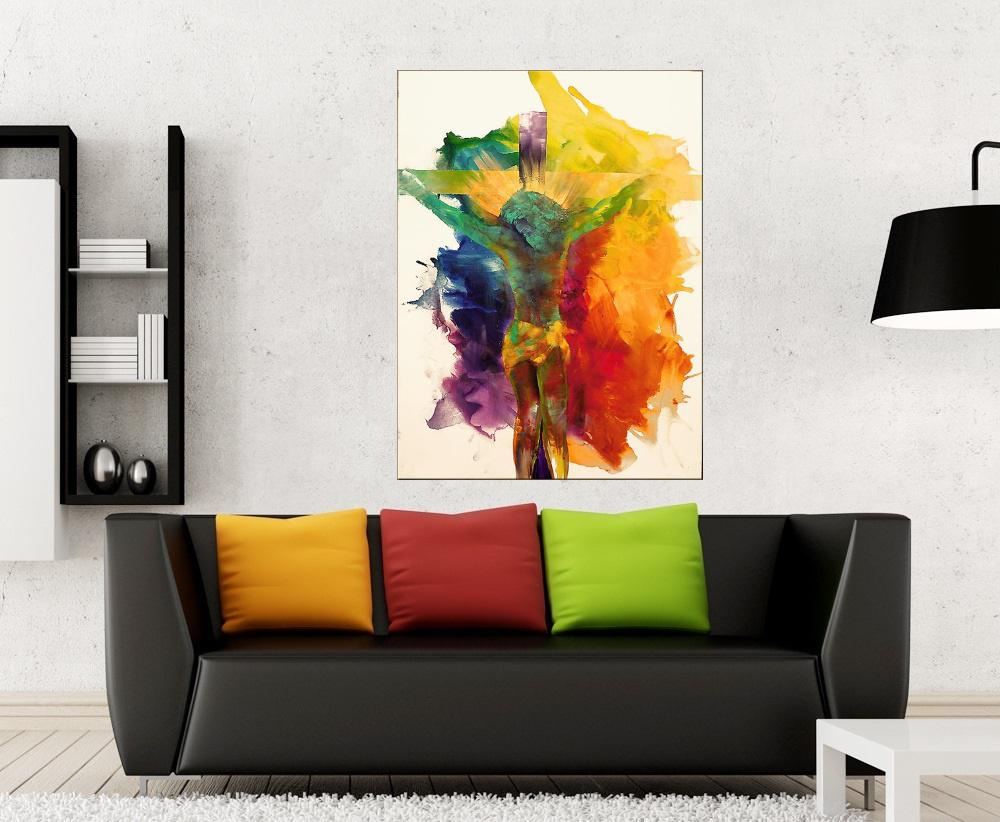 Quadro Pintura Tela Abstrato Moderno Cod 2012
