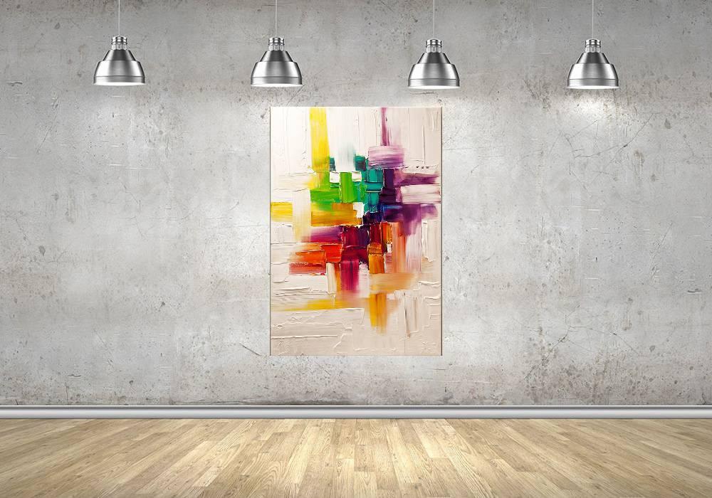 Quadro Pintura Tela Abstrato Moderno Cod 2016