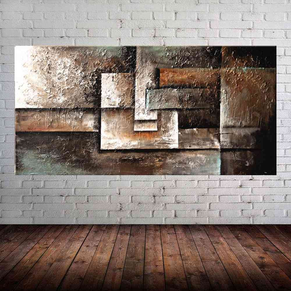 Quadro Pintura Tela Abstrato Moderno Cod 2028