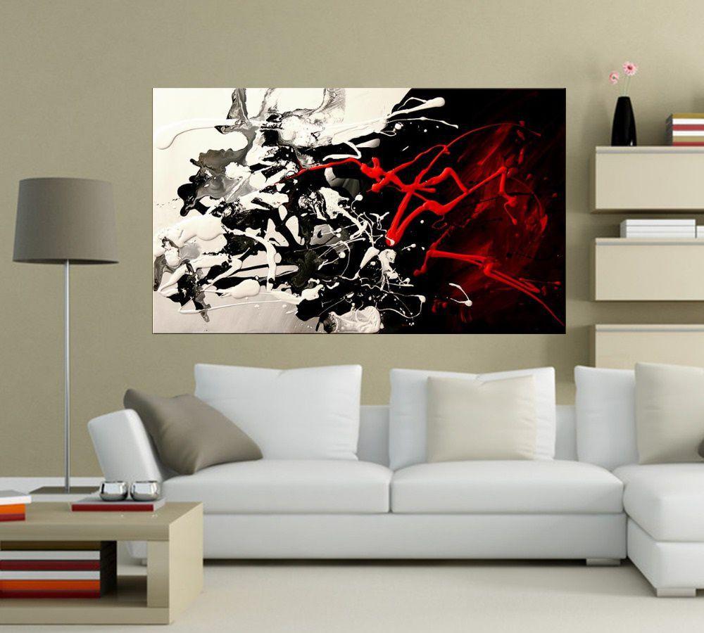 Quadro Pintura Tela Abstrato Moderno Cod 2032