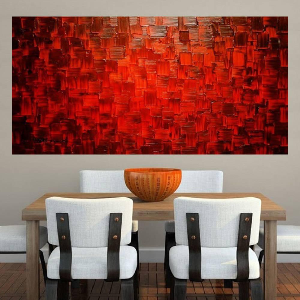 Quadro Pintura Tela Abstrato Moderno Cod 2165