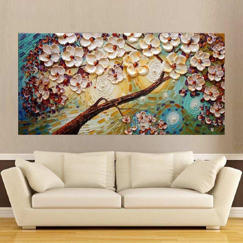 Quadro Pintura Tela Abstrato Moderno Cod 2176