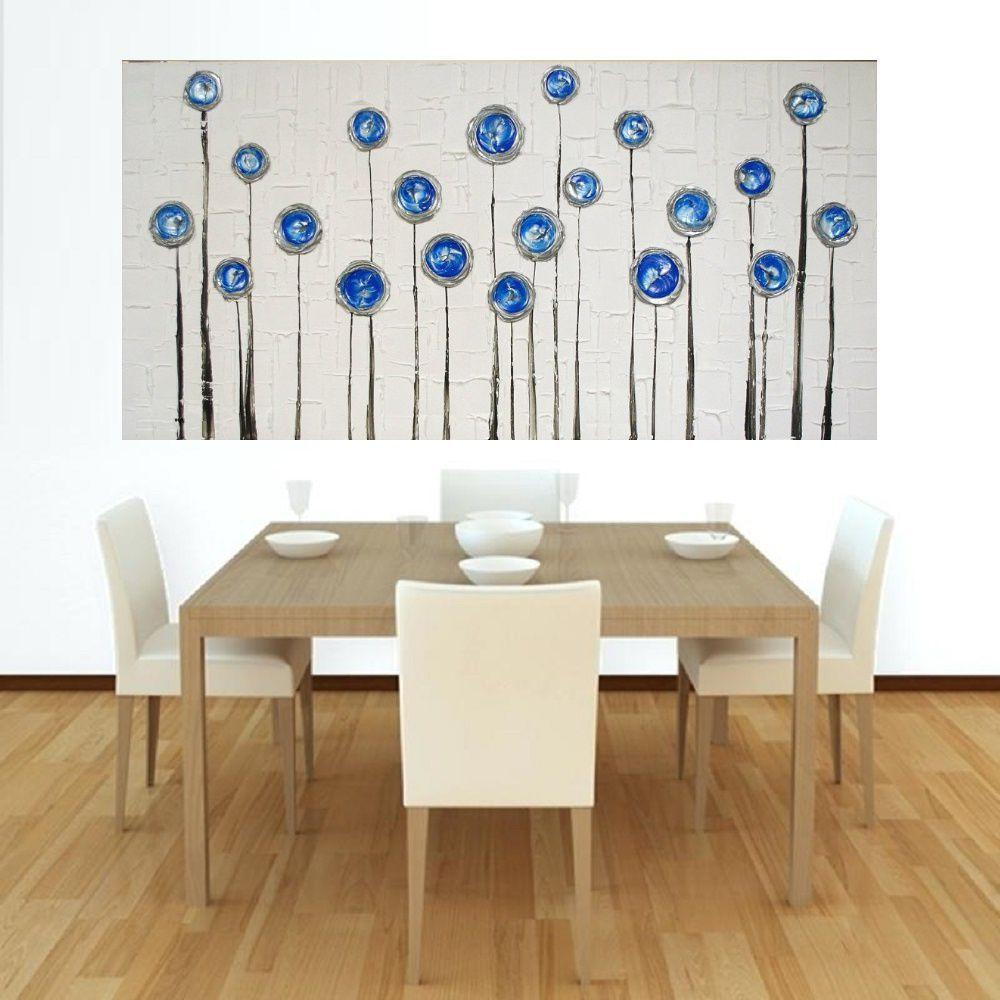Quadro Pintura Tela Abstrato Moderno Cod 2190
