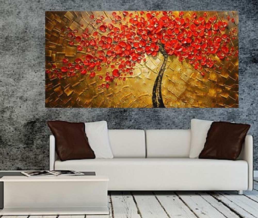 Quadro Pintura Tela Abstrato Moderno Cod 2191