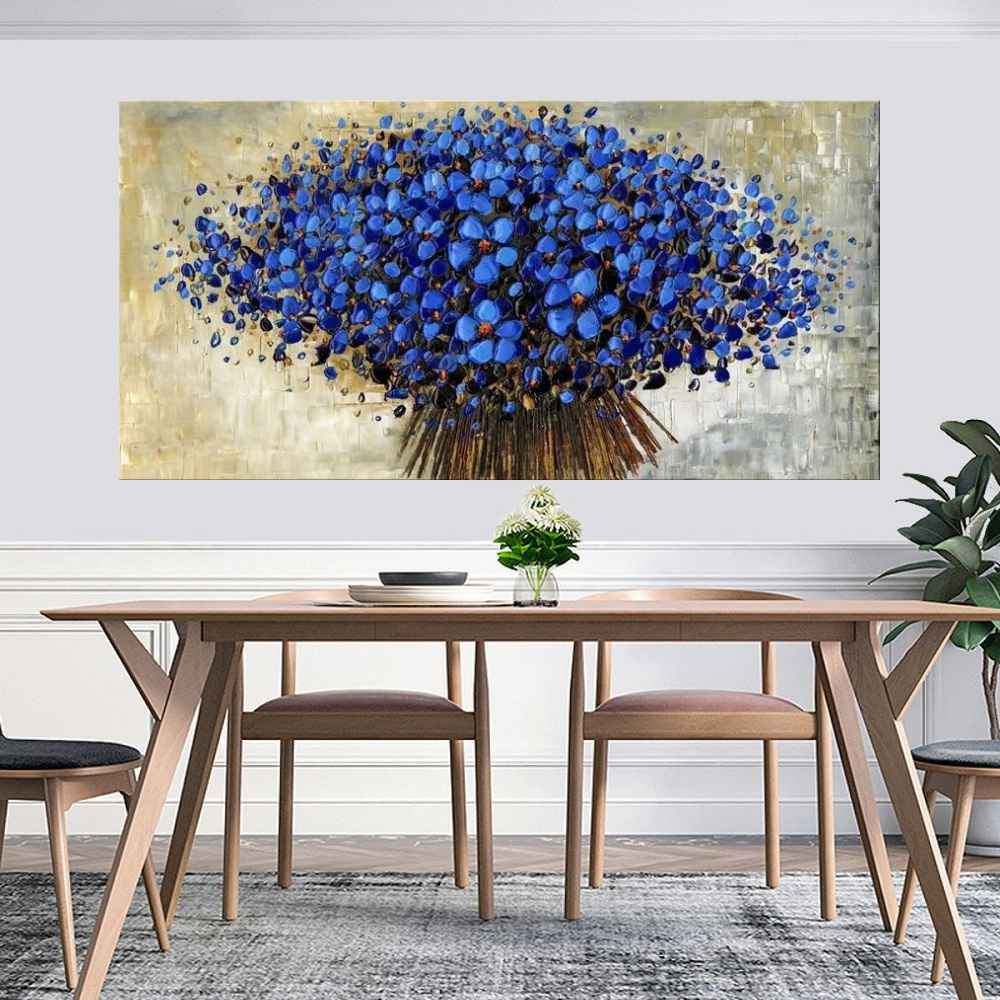 Quadro Pintura Tela Abstrato Moderno Cod 2193