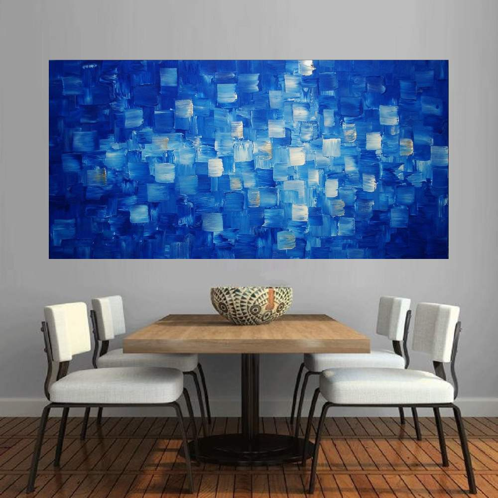 Quadro Pintura Tela Abstrato Moderno Cod 2194