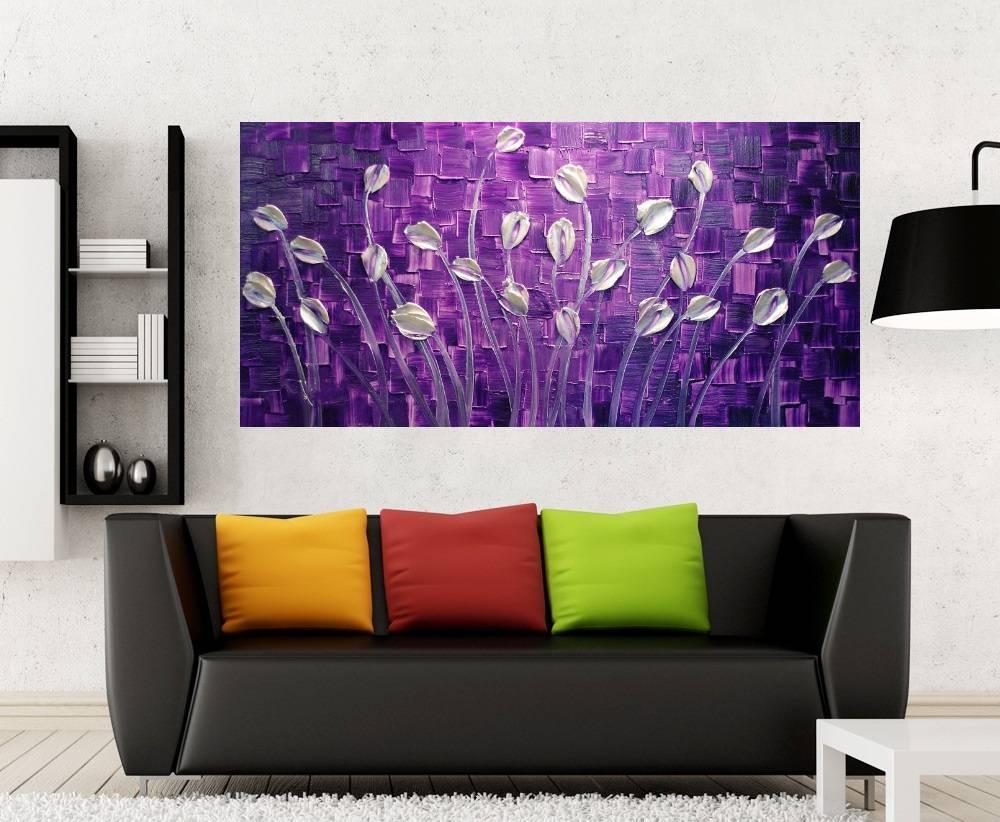 Quadro Pintura Tela Abstrato Moderno Cod 2196