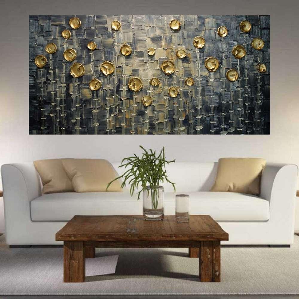 Quadro Pintura Tela Abstrato Moderno Cod 2197