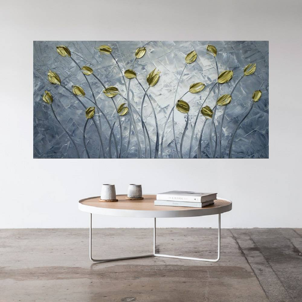 Quadro Pintura Tela Abstrato Moderno Cod 2402