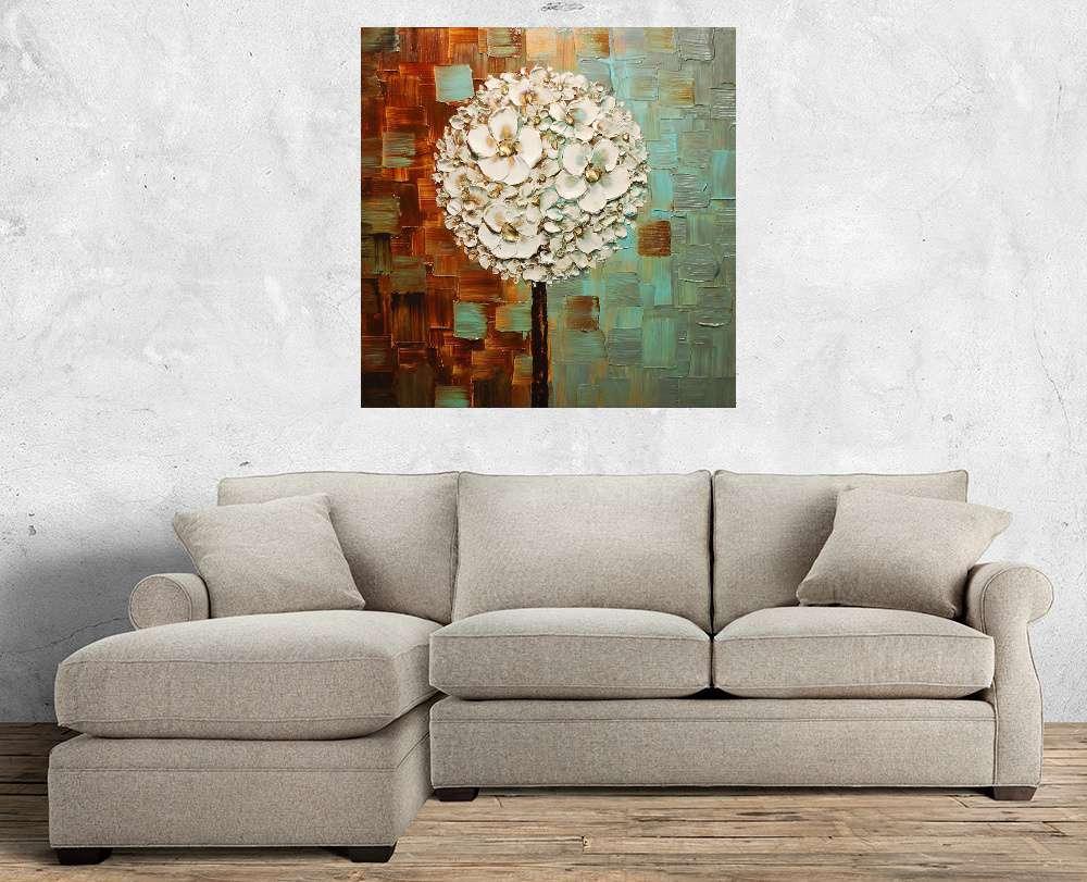 Quadro Pintura Tela Abstrato Moderno Cod 2406