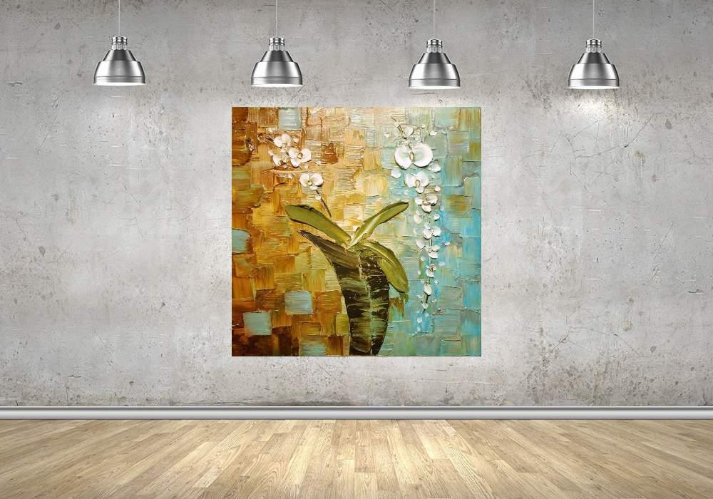 Quadro Pintura Tela Abstrato Moderno Cod 2411