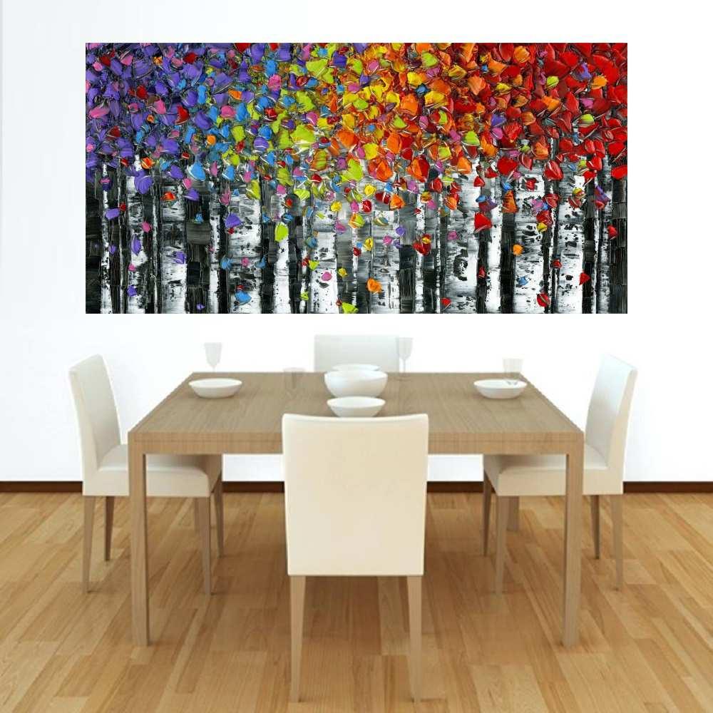 Quadro Pintura Tela Abstrato Moderno Cod 2414