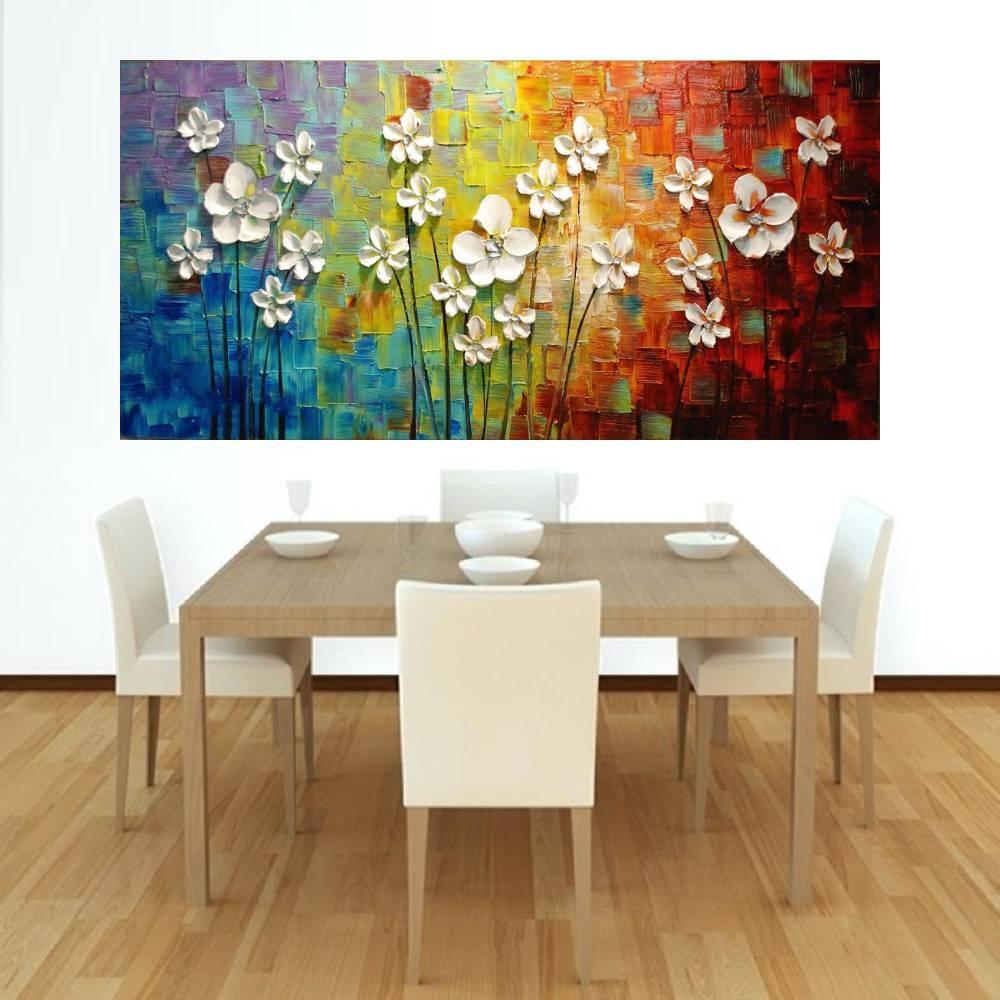 Quadro Pintura Tela Abstrato Moderno Cod 2419