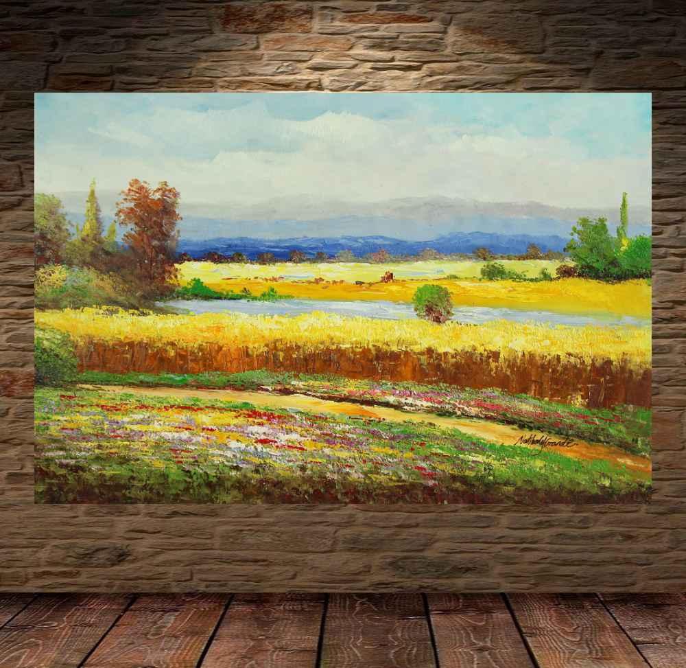 Quadro Pintura Tela Abstrato Moderno Cod 2420