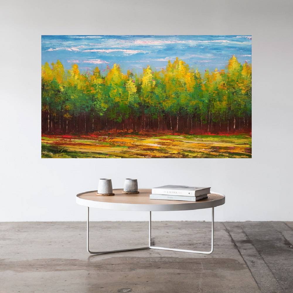Quadro Pintura Tela Abstrato Moderno Cod 2421