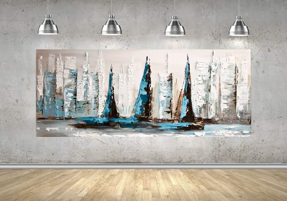Quadro Pintura Tela Abstrato Moderno Cod 2422